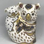 ROYAL CROWN DERBY 'Koala and Baby' Paperweight