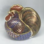 Boxed ROYAL CROWN DERBY 'Cockerel' Paperweight