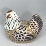 Boxed ROYAL CROWN DERBY 'Chicken' Paperweight